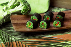 Raw food rolls royalty free stock photography