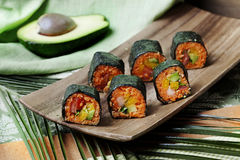 Raw food rolls Royalty Free Stock Photo