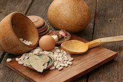 Raw food -rustic scene background Stock Image