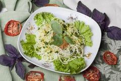 Raw food spaghetti squash Stock Images