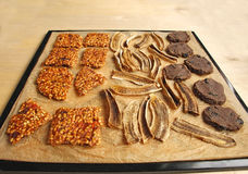 Raw food sweets (cookies, chips, brittles) Stock Photo