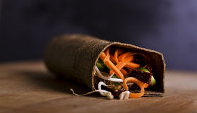 Raw food wrap Royalty Free Stock Images