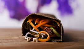 Raw food wrap Stock Image
