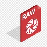 RAW format isometric icon Royalty Free Stock Image
