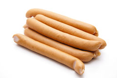 Raw frankfurter Royalty Free Stock Images