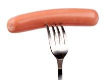 Raw frankfurter sausage isolated Royalty Free Stock Photo