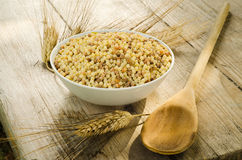 Raw fregola Royalty Free Stock Images