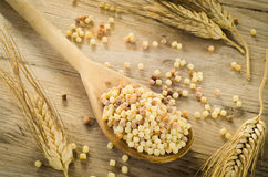 Raw fregola Royalty Free Stock Photos