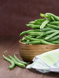 Raw French beans Royalty Free Stock Photos