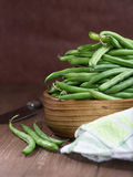 Raw French beans Royalty Free Stock Photography