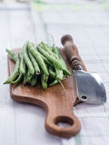 Raw French beans Stock Image