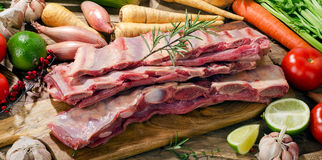 Raw fresh beef ribs Royalty Free Stock Photos
