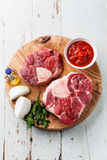 Raw fresh beef shins for Osso Buco Royalty Free Stock Photo