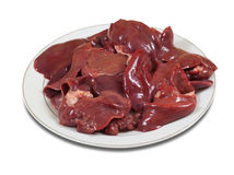 Raw fresh bird liver Royalty Free Stock Photos