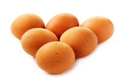 Raw fresh chicken eggs closeup Royalty Free Stock Photo