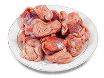 Raw fresh chicken gizzard Stock Photography