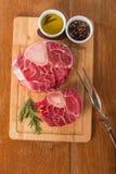 Raw fresh cross cut veal shank Stock Photography