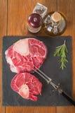 Raw fresh cross cut veal shank Royalty Free Stock Photography