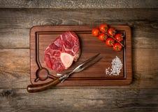 Raw fresh cross cut veal shank Royalty Free Stock Image