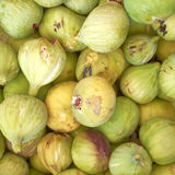 Raw fresh green figs Royalty Free Stock Images