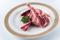 Raw fresh lamb chop Royalty Free Stock Photography