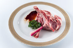 Raw fresh lamb chop Stock Photos