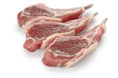 Raw fresh lamb chops Royalty Free Stock Photos