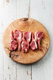 Raw fresh lamb ribs Royalty Free Stock Image