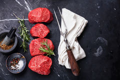 Raw fresh marbled meat Steak Royalty Free Stock Images