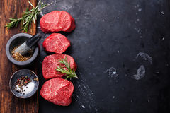 Raw fresh marbled meat Steak Royalty Free Stock Photography