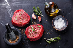 Raw fresh marbled meat Steak Royalty Free Stock Image