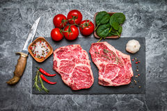 Raw fresh marbled meat Steak Royalty Free Stock Photo