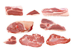 Raw fresh meat collection Stock Images