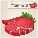 Raw  fresh meat. Royalty Free Stock Images