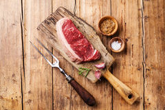 Raw fresh meat of New York steak Stock Image