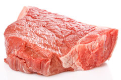 Raw fresh meat over the white background Stock Images