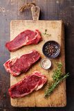Raw fresh meat Ribeye steak entrecote Stock Photos