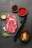 Raw fresh meat Ribeye Steak Royalty Free Stock Images