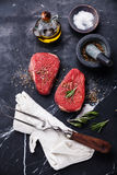Raw fresh meat rump Steak Royalty Free Stock Photo