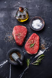 Raw fresh meat rump Steak Royalty Free Stock Photography