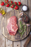 Raw fresh meat Steak with salt and pepper Stock Photography