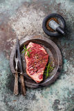 Raw fresh meat Striploin steak Royalty Free Stock Image