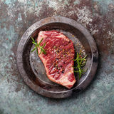 Raw fresh meat Striploin steak Royalty Free Stock Images