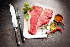 Raw fresh meat T-bone steak Stock Image