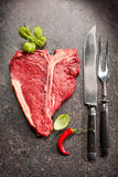 Raw fresh meat T-bone steak Stock Photography
