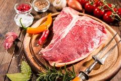 Raw fresh meat t-bone steak Royalty Free Stock Photo