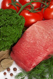 Raw fresh meat with tomato Stock Image