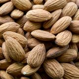 Raw fresh organic almond nuts royalty free stock image