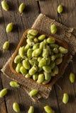 Raw Fresh Organic Green Garbanzo Beans Royalty Free Stock Images