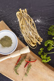 Raw fresh pasta Royalty Free Stock Images